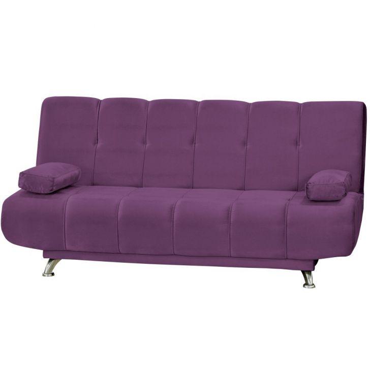 Sof cama com p s de alum nio eloa suede vinho matrix - Sofas cama de 1 20 cm ...