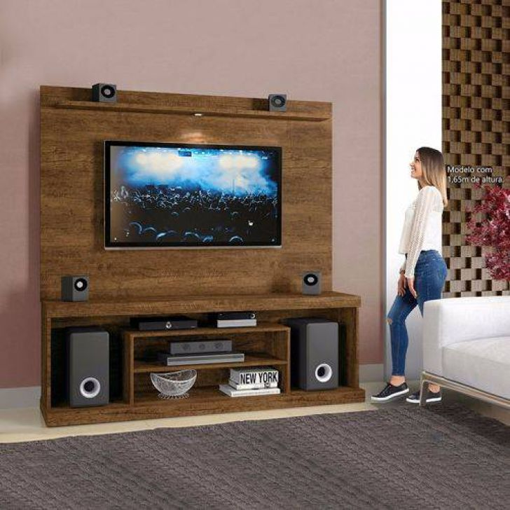 Home Theater O Cinema Na Sua Casa: Estante Home Theater Portinari Para Tv 55 Polegadas