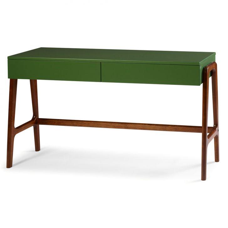 Armario Quarto Porta Correr Tok Stok ~ Aparador e Escrivaninha Rush Verde com Marrom Maxima