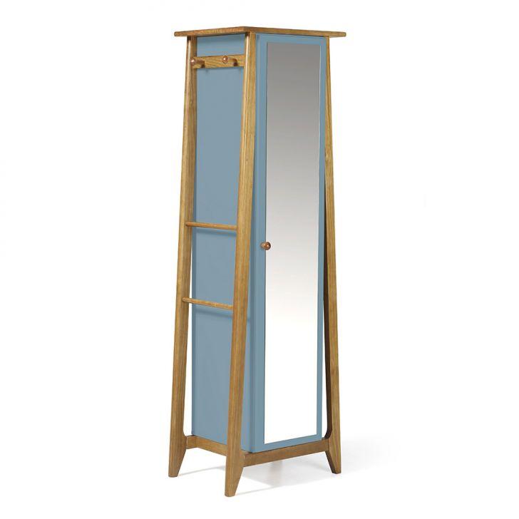 Sapateira Stoka com Espelho Nogal e Azul Serenata