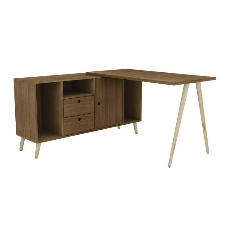 Mesa para Computador Olívia Retrô Nogueira