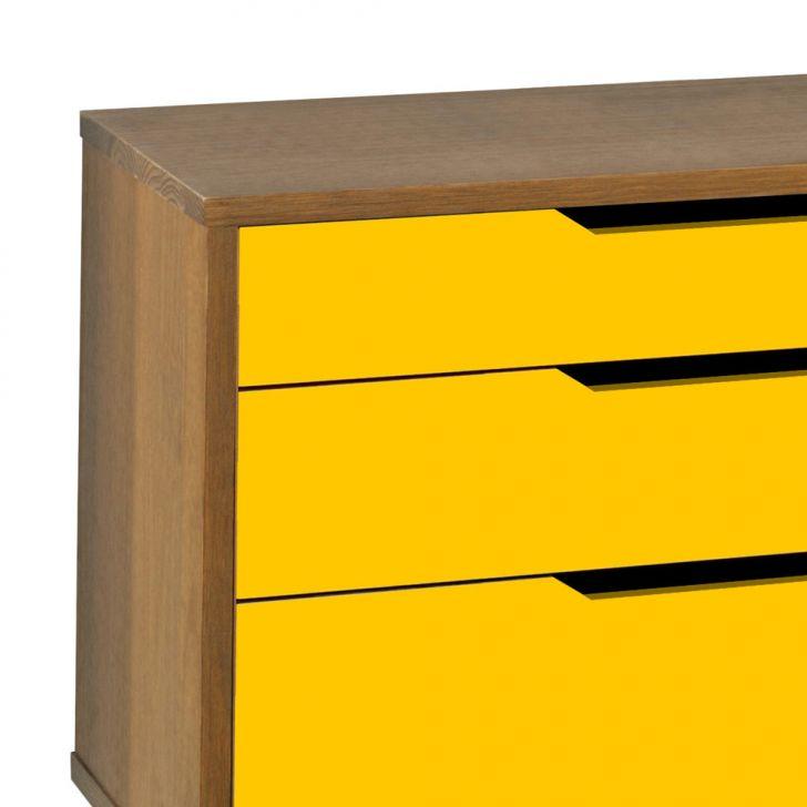 Buffet Strauss 2 PT 3 GV Madeira e Amarelo