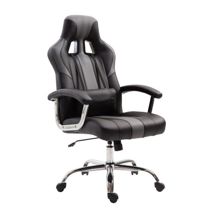 Cadeira Gamer Dinamarca Cinza com Preto