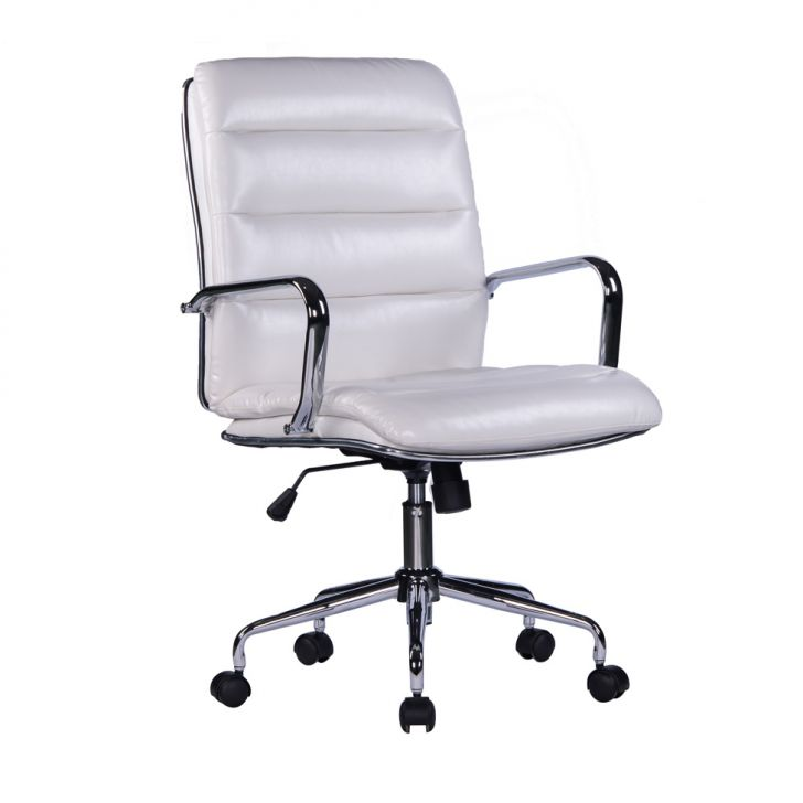 Cadeira de Escritório Diretor Suíça Branca