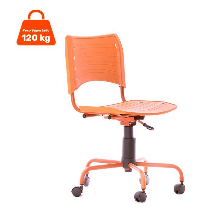 Cadeira de Escritório Secretária Giratória Evidence Color Laranja