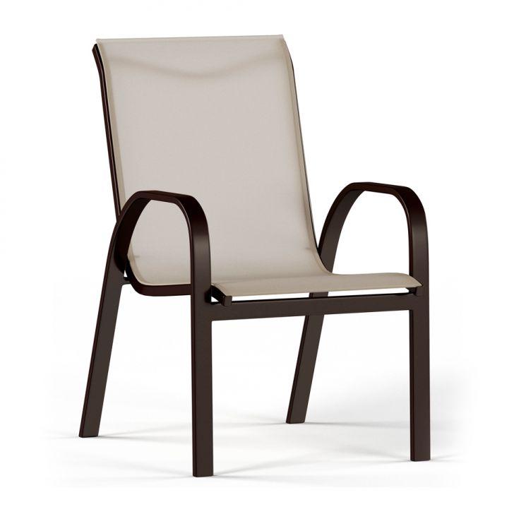 Cadeira de Jardim Sauípe Marrom e Bege