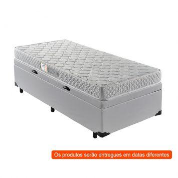 Menor preço em Cama Box Premium Baú com Colchão Solteiro Macau D28 Branco