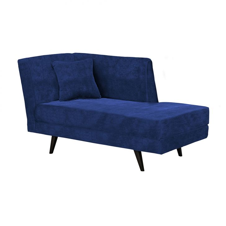 Chaise Arkady Suede Azul Escuro