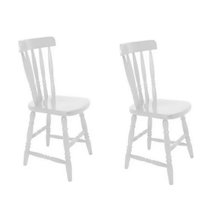 Conjunto 2 Cadeiras Campestre Branco