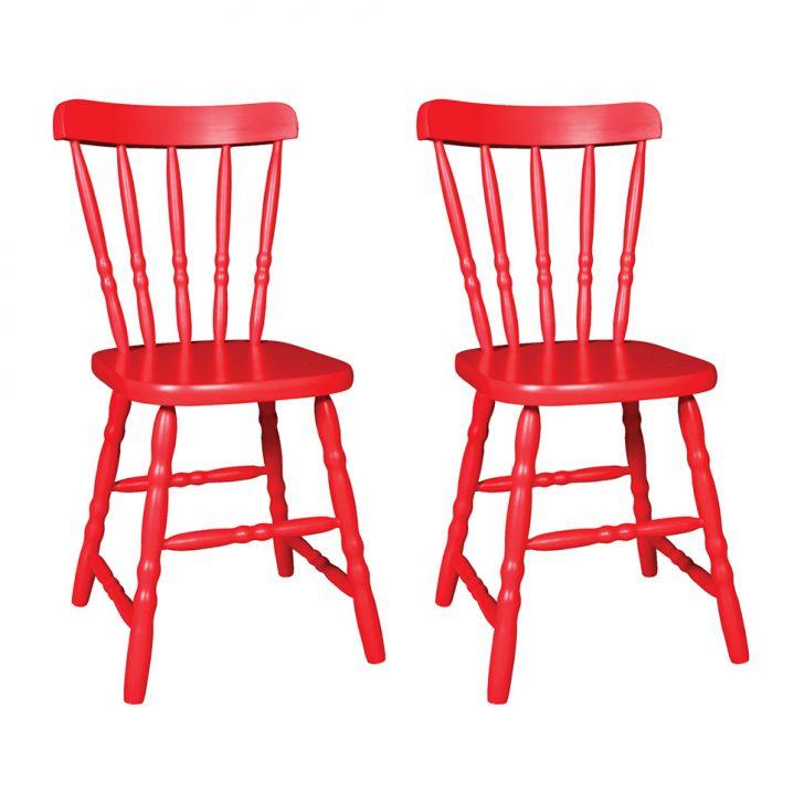 Conjunto 2 Cadeiras de Cozinha Dalas Vermelha