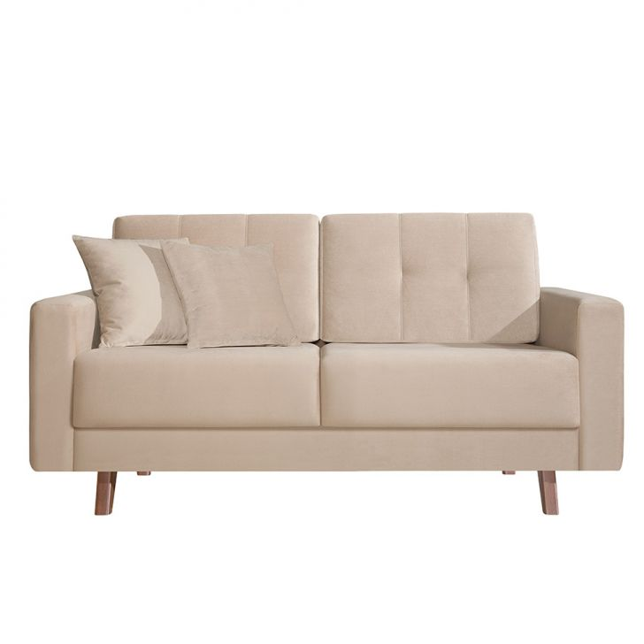 conjunto sof 2 e 3 lugares acqua 200 cm bege. Black Bedroom Furniture Sets. Home Design Ideas