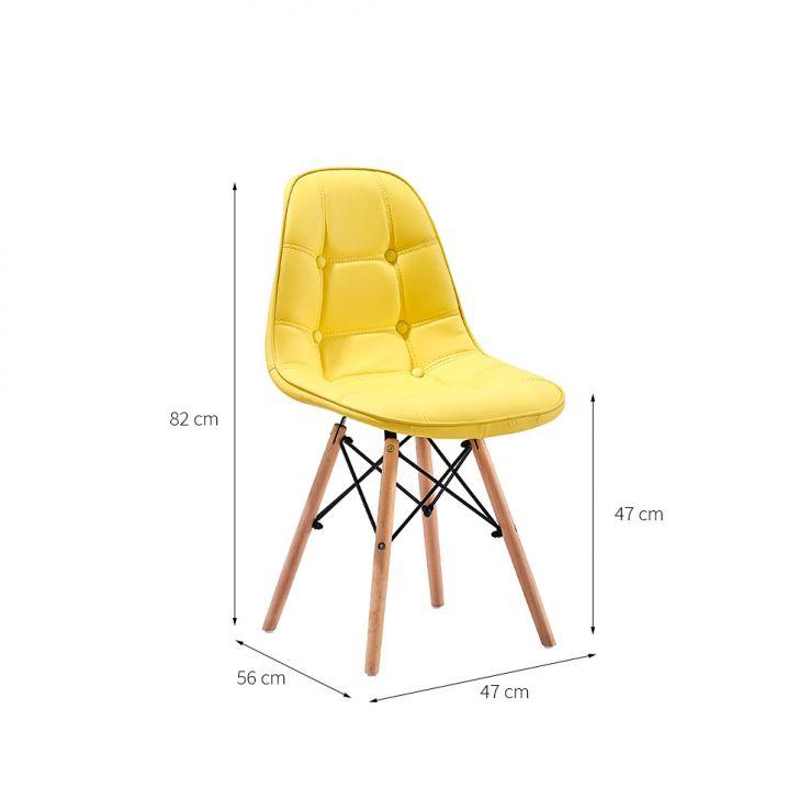 ... Foto 2 - Conjunto com 2 Cadeiras Eames Eiffel Botonê Amarelo ... dc0ee3c3b98