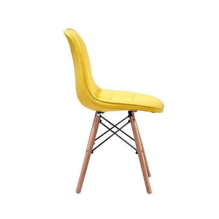 ... Foto 4 - Conjunto com 2 Cadeiras Eames Eiffel Botonê Amarelo ... 8a2466f4e6b