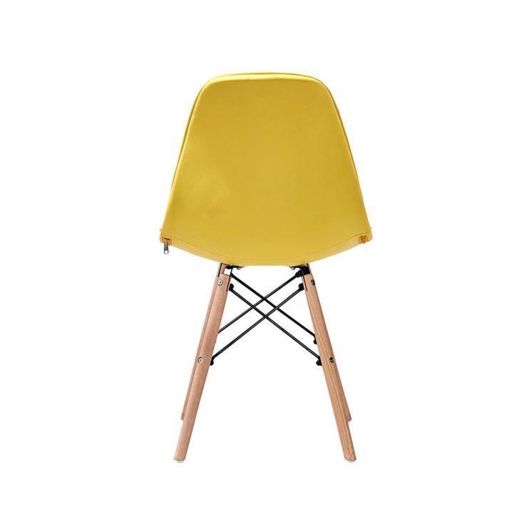 ... Foto 5 - Conjunto com 2 Cadeiras Eames Eiffel Botonê Amarelo ... 28feb85b763