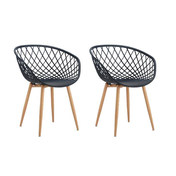 Conjunto com 2 Cadeiras Sidera Preto - Preto - 1 - thumbnail