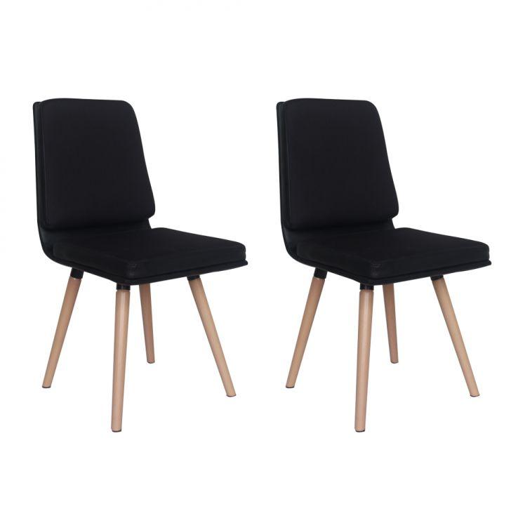 Conjunto com 2 Cadeiras Wallstreet Preto