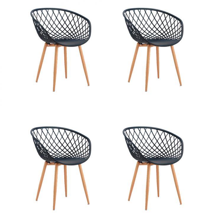 Conjunto com 4 Cadeiras Sidera Preto