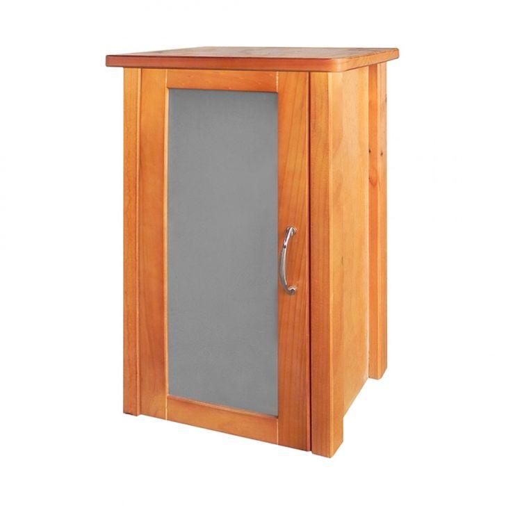 Gabinete Mascella para Banheiro 70x42x20cm 1 Porta Marrom -> Gabinete De Banheiro Mobly