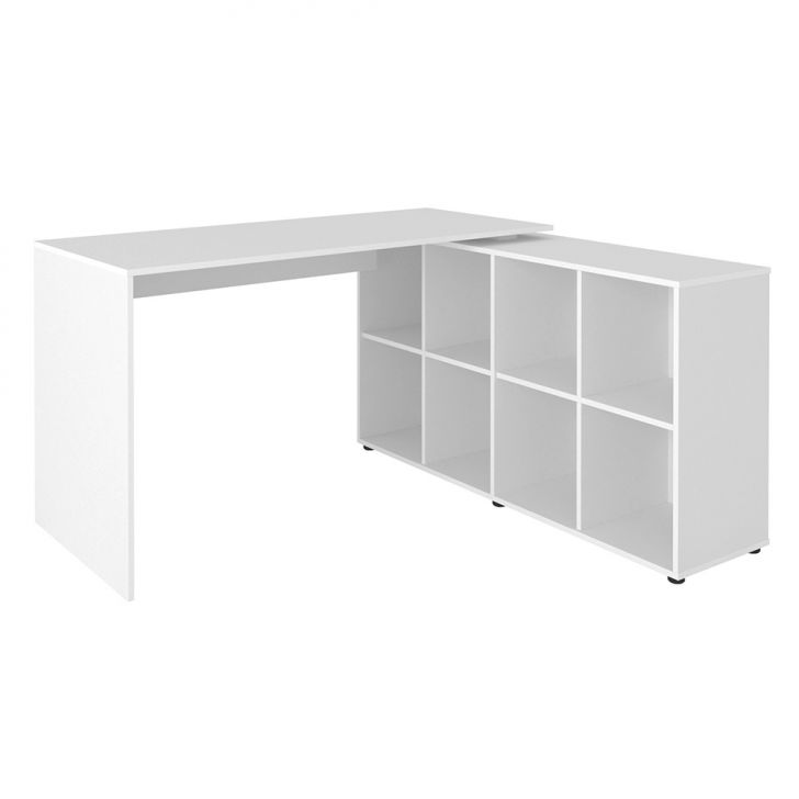 Mesa de escrit rio em l nero branco for Mesas escritorio modernas