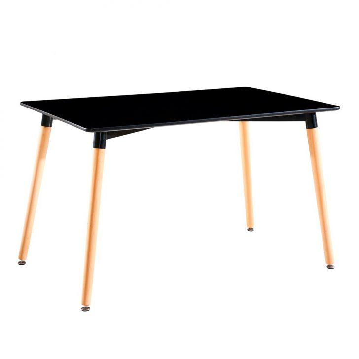 Mesa de Jantar Eames Premium Retangular Preta 160 cm