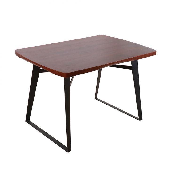 Mesa de Jantar Hellen Retangular Nogueira 120 cm
