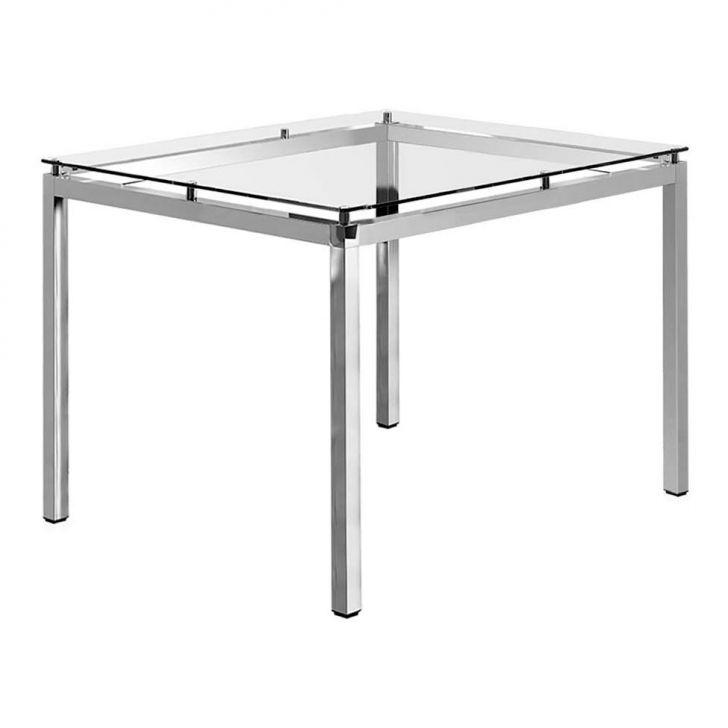 Mesa de Jantar Quadrada Viterbo Cromada 95 cm