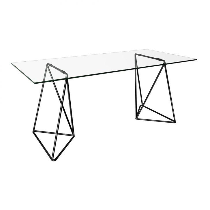 Mesa de Jantar Retangular Leblon Preta 140 cm