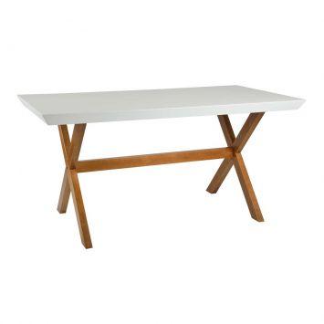 Mesa de Jantar Tray 1.6 Branco e Mel DESCONTO DE R$: 390,00 (30,00% OFF) - OFERTA MOBLY
