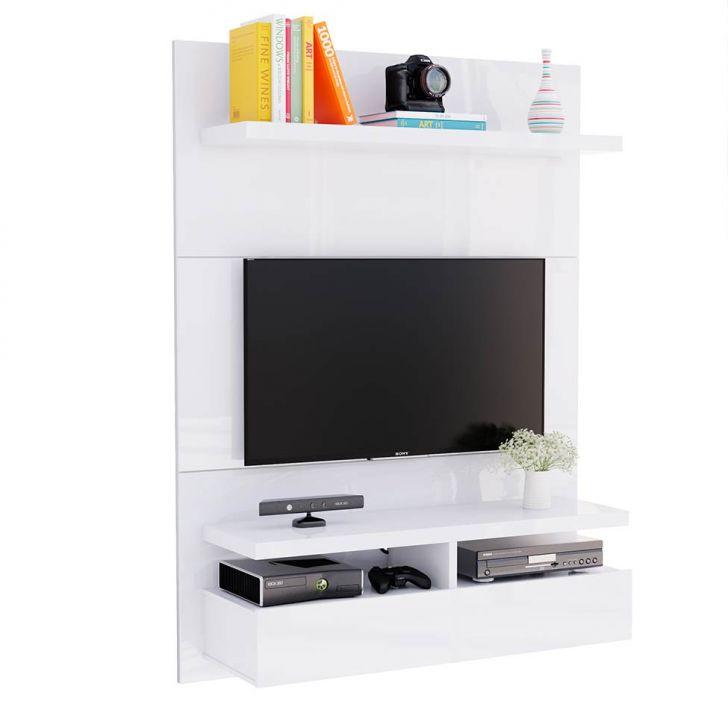 painel para tv 40 polegadas zeus branco gloss 120 cm. Black Bedroom Furniture Sets. Home Design Ideas