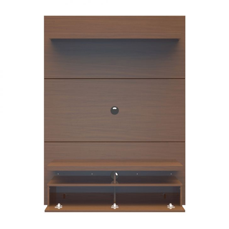 painel para tv 40 polegadas zeus castanho 120 cm. Black Bedroom Furniture Sets. Home Design Ideas