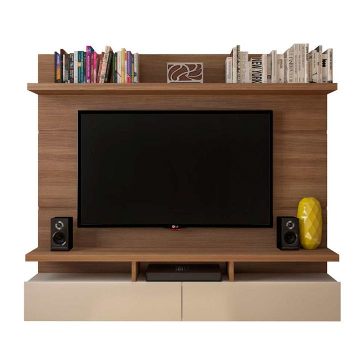 painel para tv 50 polegadas zeus natural e off white 184 cm. Black Bedroom Furniture Sets. Home Design Ideas