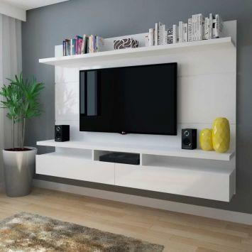 Menor preço em Painel para TV 60 Polegadas Zeus Branco Gloss 220 cm