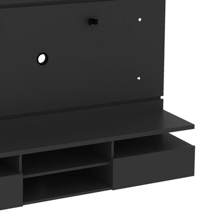 painel para tv at 50 polegadas live preto 160 cm. Black Bedroom Furniture Sets. Home Design Ideas