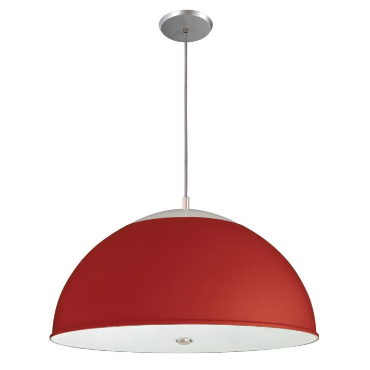 Pendente 3071 Vermelho Brilhante para 3 Lâmpadas