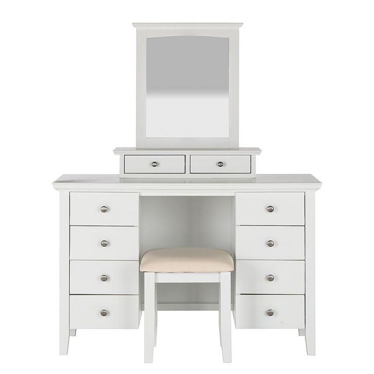penteadeira 10 gavetas com espelho branca celleste. Black Bedroom Furniture Sets. Home Design Ideas