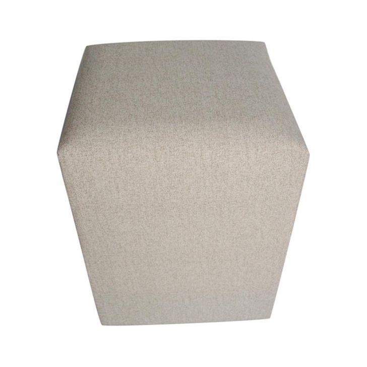 Puff Quadrado Tissue Bege
