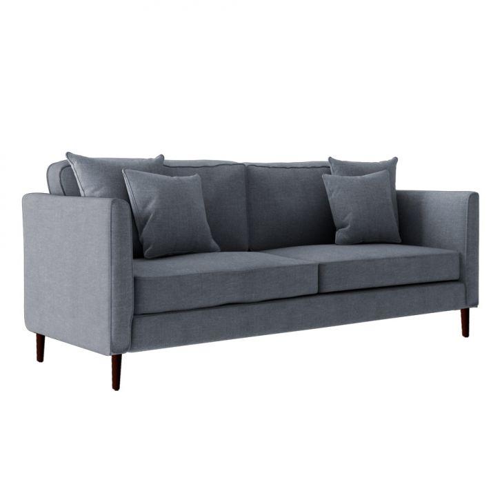 sof 3 lugares beny p palito linho r stico cinza. Black Bedroom Furniture Sets. Home Design Ideas