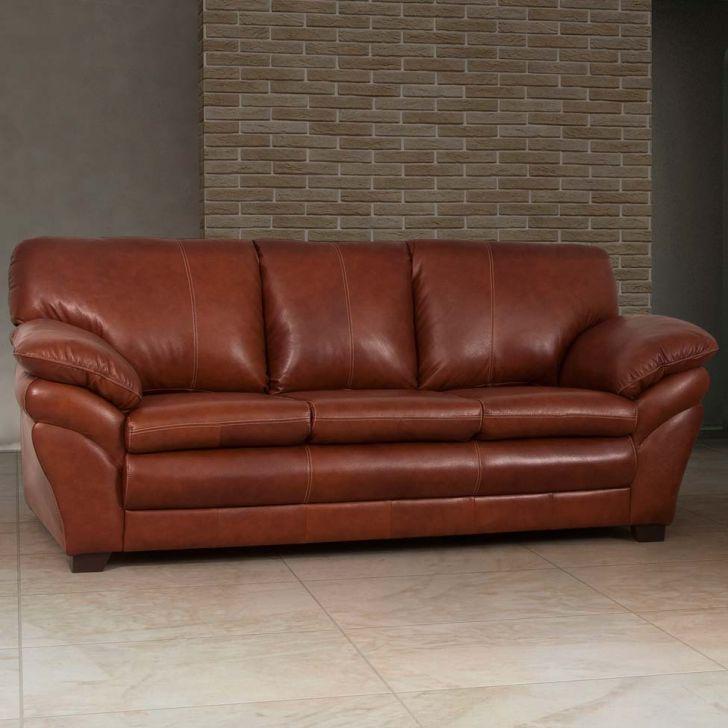 sofá 3 lugares bradley couro marrom