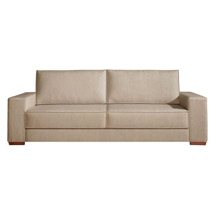 Sof 3 lugares dan bio linho marrom 200 cm for Couch 200 cm