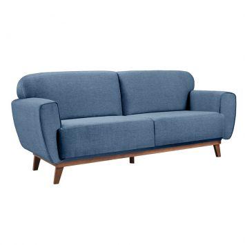 Sofá 3 Lugares Floret Linho Azul
