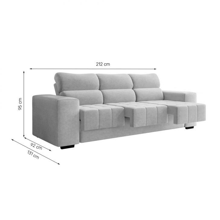 Phenomenal Sofa 3 Lugares Retratil Fluence Suede Fendi Machost Co Dining Chair Design Ideas Machostcouk