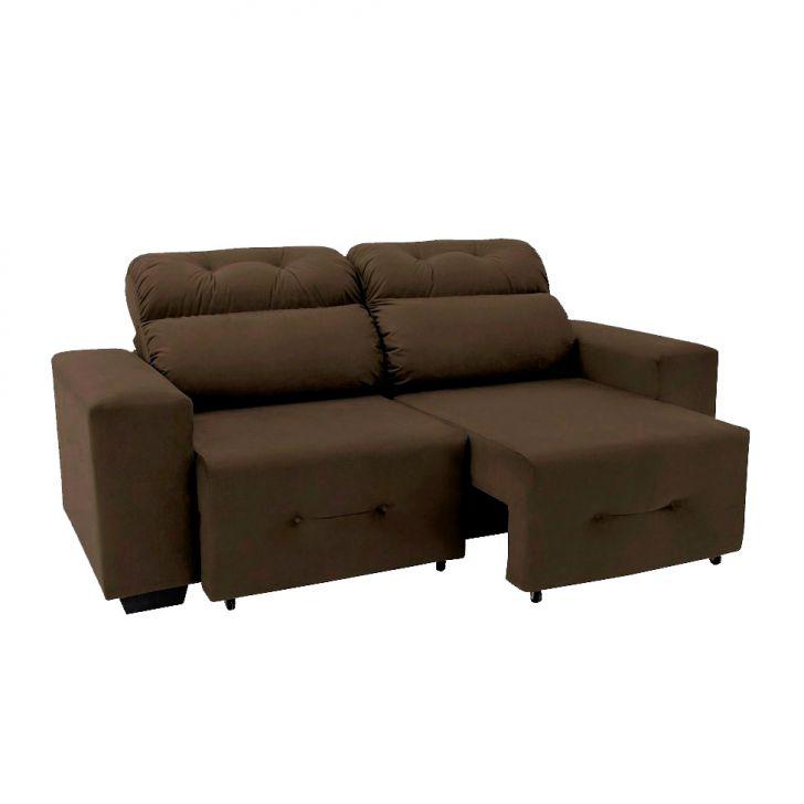 Sof 3 lugares retr til e reclin vel plaza suede marrom for Sofa 7 lugares retratil e reclinavel firenze