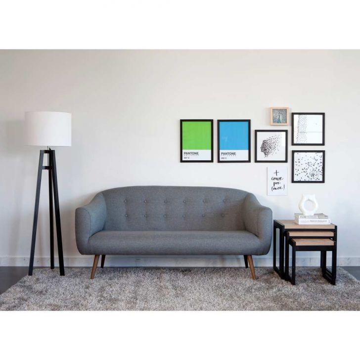 sof 3 lugares retr zap cinza. Black Bedroom Furniture Sets. Home Design Ideas
