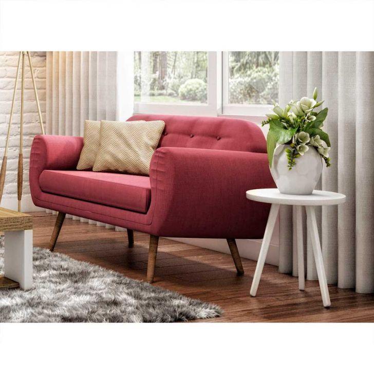 sof beatle 2 lugares linho rosa. Black Bedroom Furniture Sets. Home Design Ideas