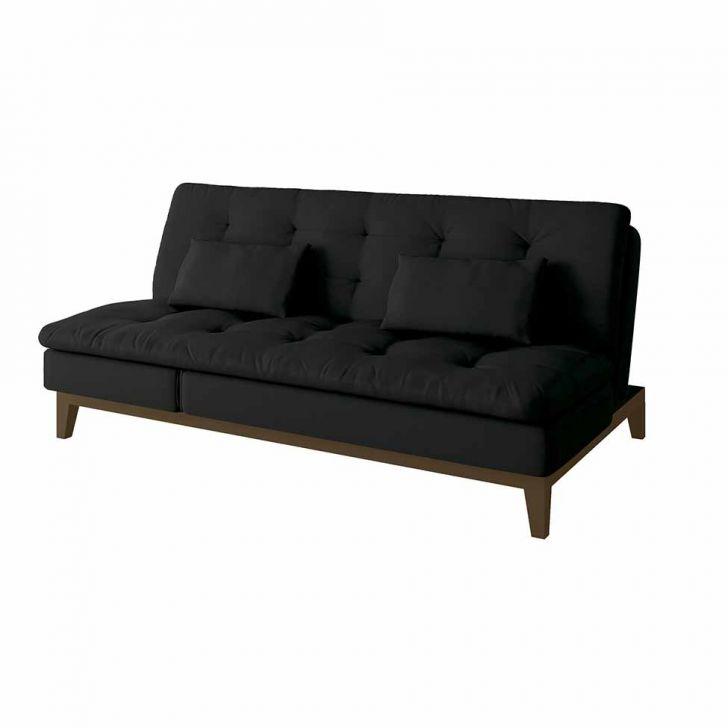 Sof cama casal amanda com chaise e p s de madeira couro - Sofas cama de 1 20 cm ...