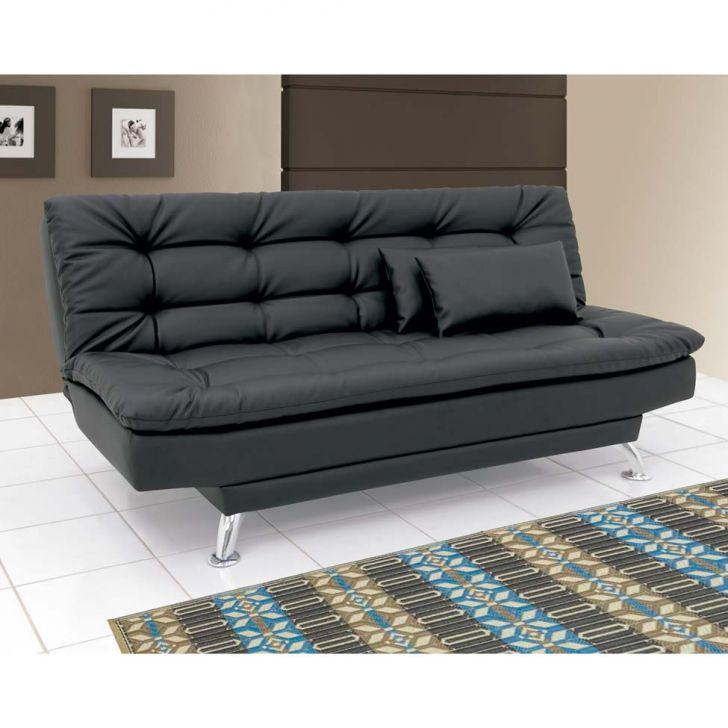 Sof cama casal premium couro sint tico preto - Sofas cama de 1 20 cm ...