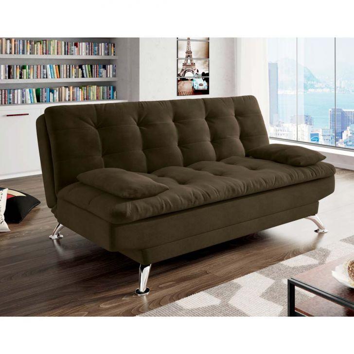 Sof cama casal premium suede marrom for Sofa cama 1 persona