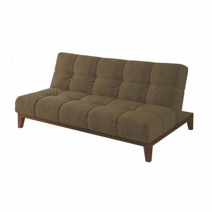 Sof cama solare base e p s de madeira suede castanho - Sofas cama de 1 20 cm ...