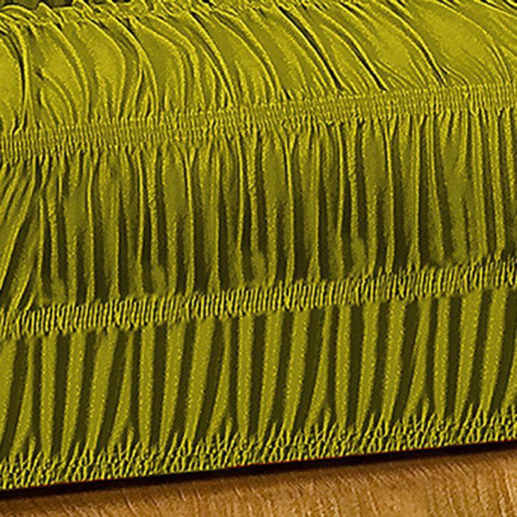 Capa de Sofá Verde 3 e 2 Lugares Com Elástico