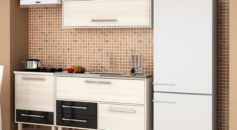 Cozinha Completa Maia 4 PT 3 GV Jacarta e Preto